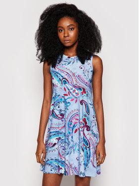Desigual Desigual Každodenné šaty Ivy 21SWVKAQ Modrá Regular Fit