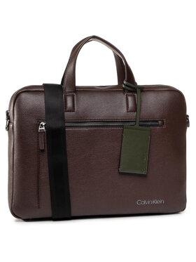 Calvin Klein Calvin Klein Torba na laptopa Ck Qt Pocket Laptop K50K505692 Brązowy