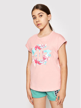 4F 4F T-Shirt HJL21-JTSD012A Růžová Regular Fit