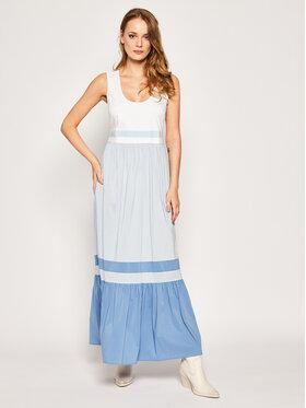 My Twin My Twin Sukienka letnia 201MT2060 Niebieski Regular Fit