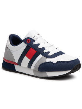 Tommy Hilfiger Tommy Hilfiger Sneakersy Low Cut Lace-Up Sneaker T3B4-31092-0732 M Biały