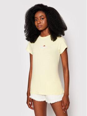 Ellesse Ellesse T-Shirt Ci Tee SGJ11885603 Żółty Slim Fit