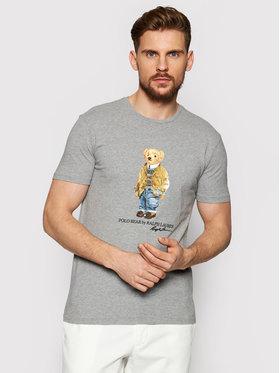 Polo Ralph Lauren Polo Ralph Lauren T-Shirt Ssl 710835761002 Šedá Slim Fit