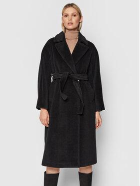 Marella Marella Płaszcz wełniany Bavero 30161216 Czarny Regular Fit