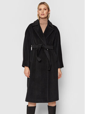 Marella Marella Вълнено палто Bavero 30161216 Черен Regular Fit