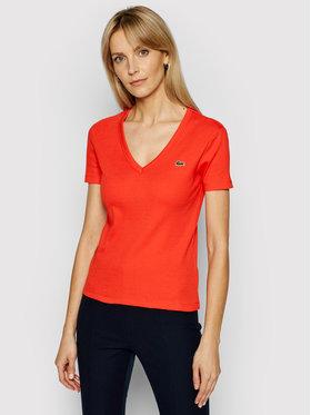Lacoste Lacoste T-shirt TF5457 Rouge Slim Fit