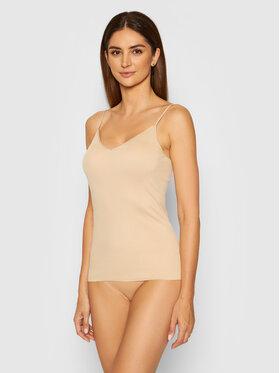 Hanro Hanro Apatiniai marškinėliai Cotton Seamless 1601 Smėlio Slim Fit