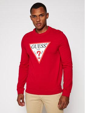 Guess Guess Bluza Audley M0BQ37 K7ON1 Czerwony Slim Fit