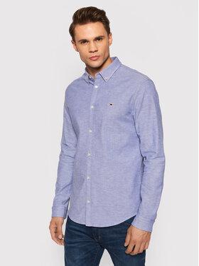 Tommy Jeans Tommy Jeans Hemd Stretch Oxford DM0DM09420 Blau Slim Fit