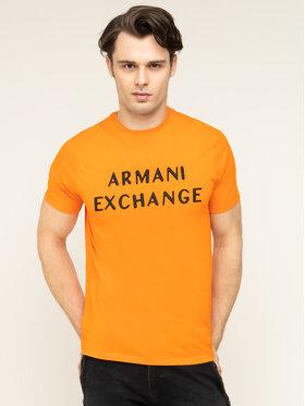 Armani Exchange Armani Exchange Póló 3HZTFA ZJH4Z 1601 Narancssárga Regular Fit