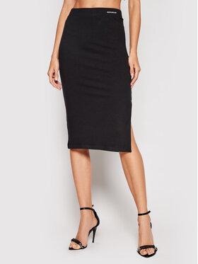 Calvin Klein Jeans Calvin Klein Jeans Миди пола Stretch Rib Bodycon J20J216284 Черен Slim Fit