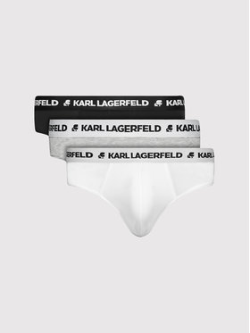 KARL LAGERFELD KARL LAGERFELD Komplektas: 3 trumpikių poros Logo 211M2103 Spalvota