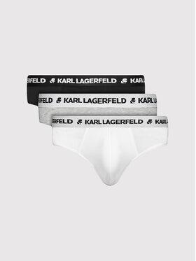 KARL LAGERFELD KARL LAGERFELD Set 3 perechi de slipuri Logo 211M2103 Colorat
