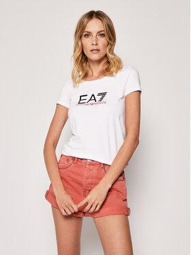 EA7 Emporio Armani EA7 Emporio Armani T-Shirt 8NTT63 TJ12Z 0197 Biały Slim Fit