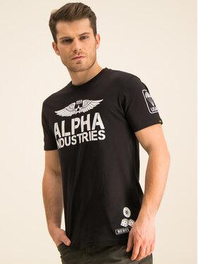 Alpha Industries Alpha Industries T-shirt Rebel T 196518 Crna Regular Fit