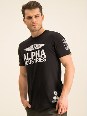 Alpha Industries Alpha Industries T-Shirt Rebel T 196518 Czarny Regular Fit
