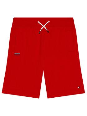 Tommy Hilfiger Tommy Hilfiger Sportiniai šortai KB0KB06597 D Raudona Regular Fit
