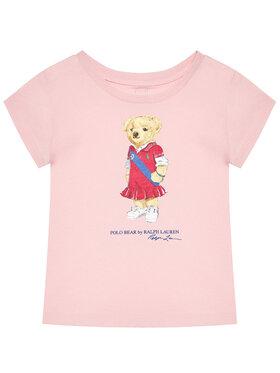 Polo Ralph Lauren Polo Ralph Lauren Marškinėliai Bear 313838265002 Rožinė Regular Fit