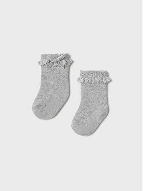 Mayoral Mayoral Vysoké dětské ponožky 9427 Stříbrná