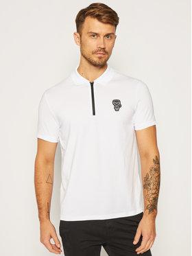 KARL LAGERFELD KARL LAGERFELD Тениска с яка и копчета 745 080 502 221 Бял Regular Fit