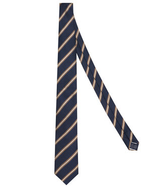 Tommy Hilfiger Tailored Tommy Hilfiger Tailored Krawat Stripe Blend TT0TT07669 Granatowy