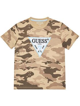 Guess Guess Marškinėliai L1RI07 K8HM0 Ruda Regular Fit