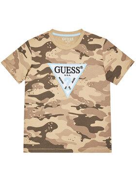 Guess Guess T-Shirt L1RI07 K8HM0 Brązowy Regular Fit