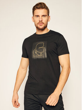 KARL LAGERFELD KARL LAGERFELD T-Shirt Crewneck 755039 502224 Černá Regular Fit