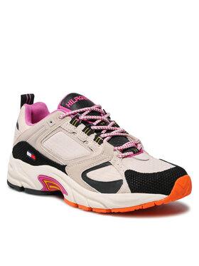 Tommy Jeans Tommy Jeans Sneakers Wmns Archive Textile Mix Runner EN0EN01514 Bej