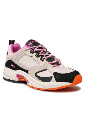 Tommy Jeans Tommy Jeans Sneakersy Wmns Archive Textile Mix Runner EN0EN01514 Beżowy