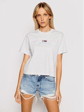 Tommy Jeans Tommy Jeans Marškinėliai Tjw Bxy Crop Modern Logo DW0DW09923 Pilka Regular Fit