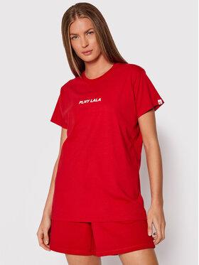 PLNY LALA PLNY LALA T-Shirt Classic PL-KO-CL-00241 Czerwony Regular Fit