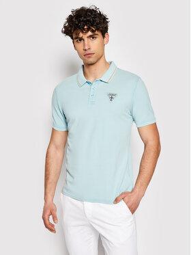 Guess Guess Polo marškinėliai M1GP54 K9WF1 Mėlyna Slim Fit