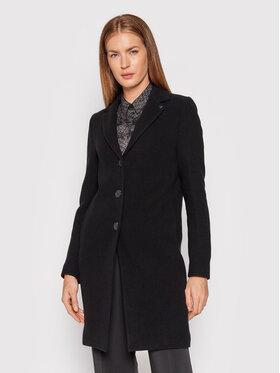 Calvin Klein Calvin Klein Płaszcz wełniany Essential K20K203143 Czarny Regular Fit