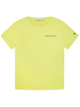 Calvin Klein Jeans Calvin Klein Jeans Tričko Chest Logo IB0IB00456 Zelená Regular Fit