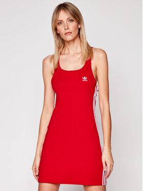 adidas adidas Sukienka codzienna Racer B GN2879 Czerwony Slim Fit