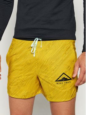 Nike Nike Sportovní kraťasy Flex Stride Trail CQ7949 Žlutá Standard Fit