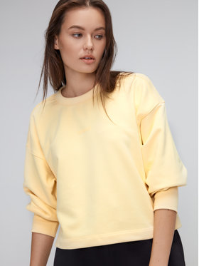 Sprandi Sprandi Majica dugih rukava AW21-BLD010 Žuta Relaxed Fit