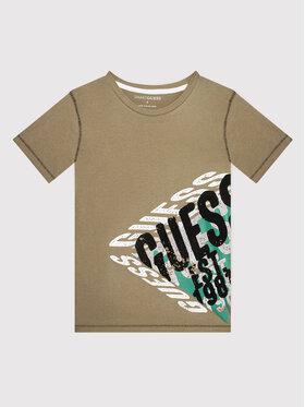 Guess Guess T-shirt L1BI12 I3Z11 Marrone Regular Fit
