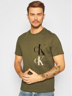 Calvin Klein Jeans Calvin Klein Jeans Marškinėliai Archive Icons J30J316871 Žalia Regular Fit