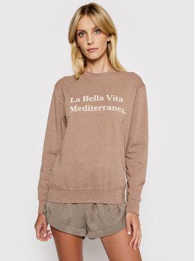 Drivemebikini Drivemebikini Sweatshirt La Bella Vita 2021-DRV-009_DB Braun Regular Fit