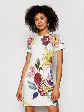 Desigual Desigual Sukienka letnia Alifornia 21SWVK36 Biały Slim Fit