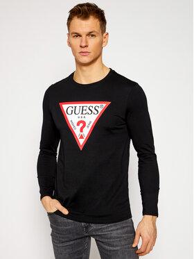 Guess Guess Marškinėliai ilgomis rankovėmis M1RI31 I3Z11 Juoda Slim Fit