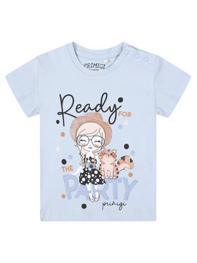 Primigi Primigi T-Shirt Party Chic 45221506 Niebieski Regular Fit