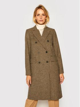 Tommy Hilfiger Tommy Hilfiger Gyapjú kabát Blend Pattern WW0WW29135 Színes Regular Fit