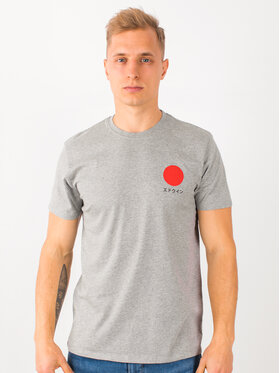 Edwin Edwin T-shirt Japanese Sun Ts I025020 TF10J94 DF67 Gris Regular Fit