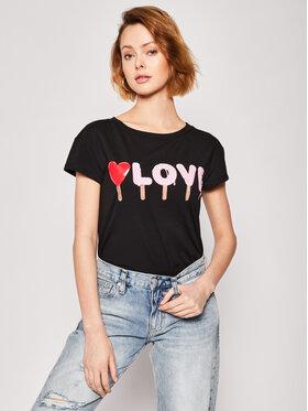LOVE MOSCHINO LOVE MOSCHINO Marškinėliai W4F301UE 1698 Juoda Regular Fit