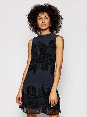 Desigual Desigual Ежедневна рокля Toronto 21SWVW61 Тъмносин Regular Fit