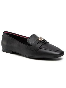 Tommy Hilfiger Tommy Hilfiger Lordsy Essential Leather Loafer FW0FW05684 Czarny