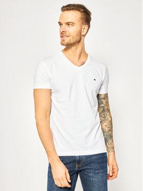 TOMMY HILFIGER TOMMY HILFIGER T-Shirt MW0MW02045 Biały Slim Fit